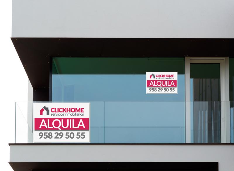 carteles inmobiliarias vinilo adhesivo
